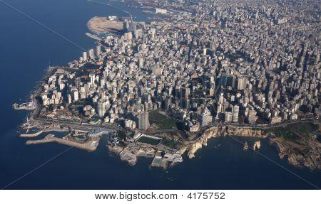 Beirut, Lebanon: Aerial View