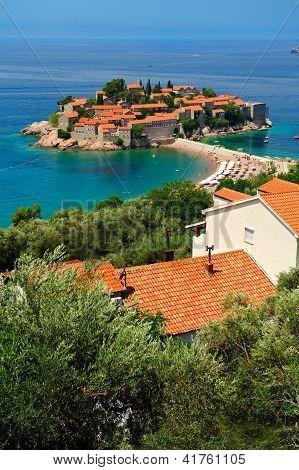 Montenegro  Island Of Sveti Stefan