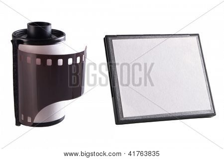 Photo of Camera film and memory card