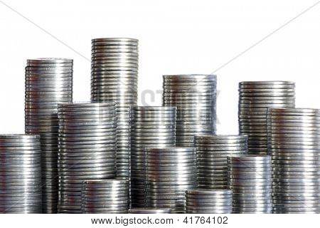 Photo of Coins skyscrapers