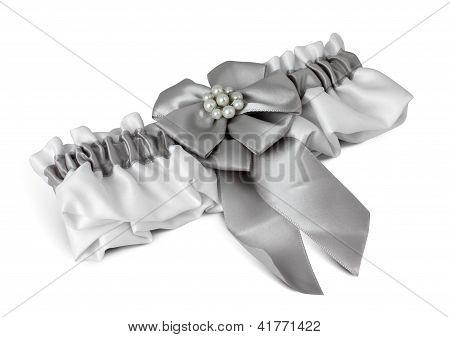 Wedding Garter On White