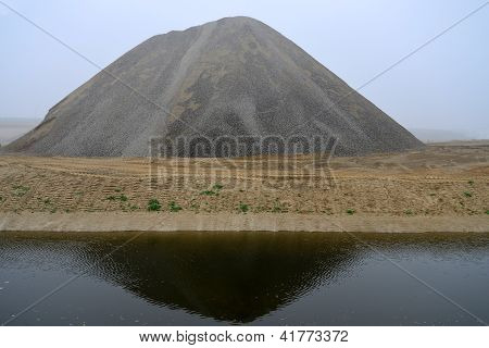 Large Gravel Pile