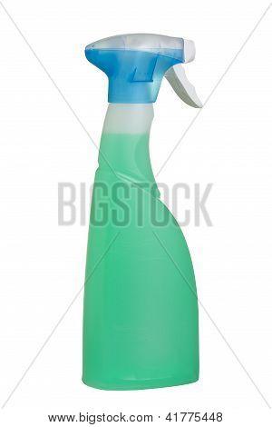 Plastic detergent spray bottle.