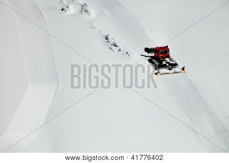 Ratrac on a ski slope
