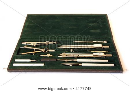 Professional Case Of Drawing Instruments