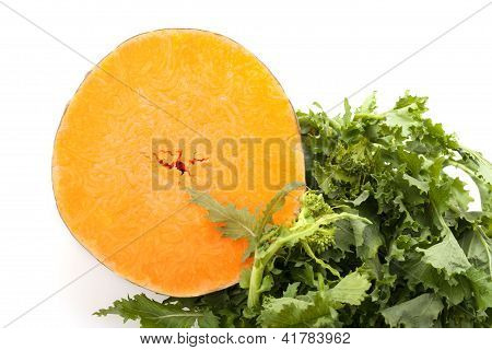 Buttercup Squash And Broccoli Rabe