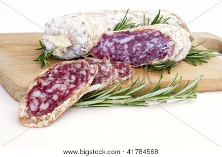 Slices Of Salame From Italy