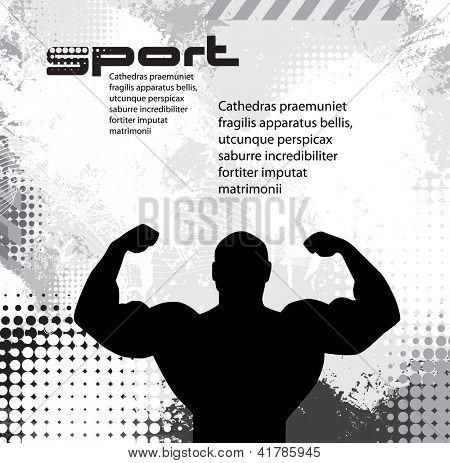 Musculação. Ilustração vetorial