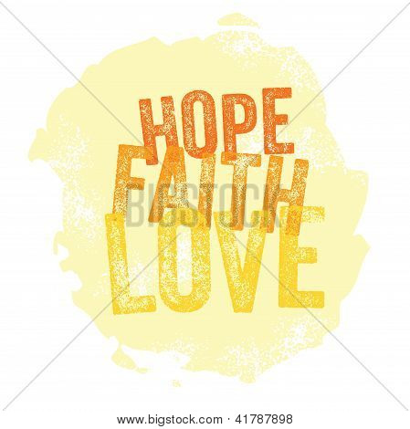 Vintage Christian design - Hope, Faith, Love