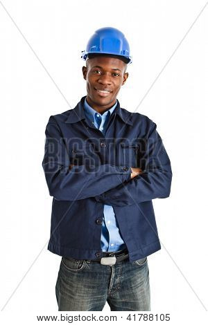 Portrait of an handsome african engineer
