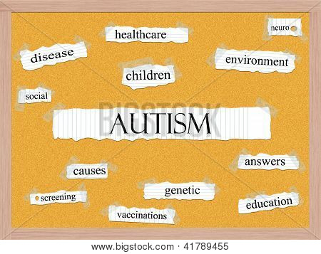 Autism Corkboard Word Concept