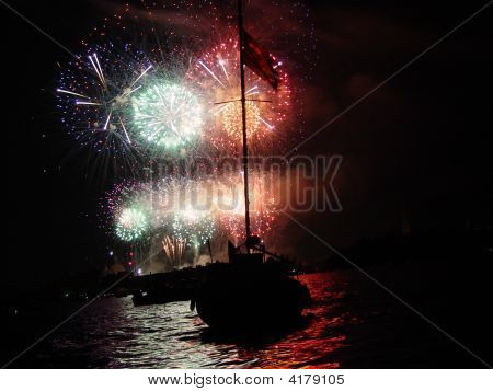 Redentore Fireworks In Venice