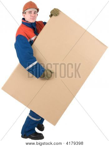 Laborer With Box