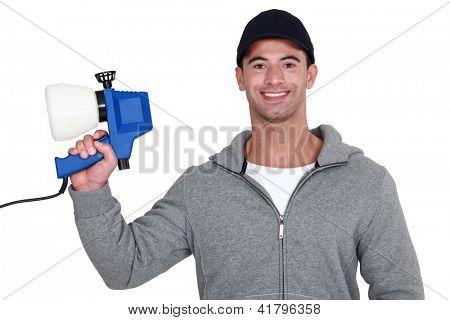 Man with a spray gun