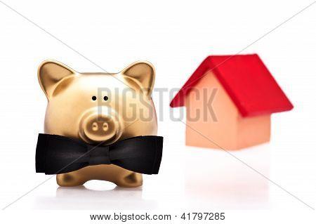 El afortunado propietario de la casa A oro del cerdo