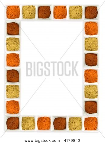 Colorful Spices Food Page Border