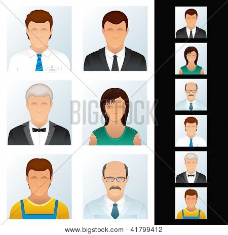 People Icons. Avatars of Various Business Peoples. Vector Clip Art