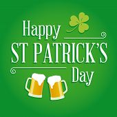 Happy St Patricks day card vector design elements