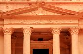 image of square mile  - The treasury at Petra Lost rock city of Jordan - JPG