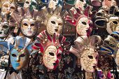 Carnival masks in Venice and Florence