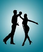 Couple Dancing Rumba Silhouette