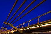 London Landmark - Millenium Bridge Close Up poster