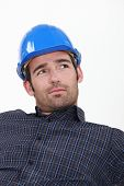 foto of lax  - Attractive man in a hardhat - JPG