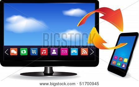 Smart Tv And Smartphone
