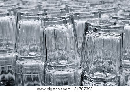 Drinking Glasses In Rows