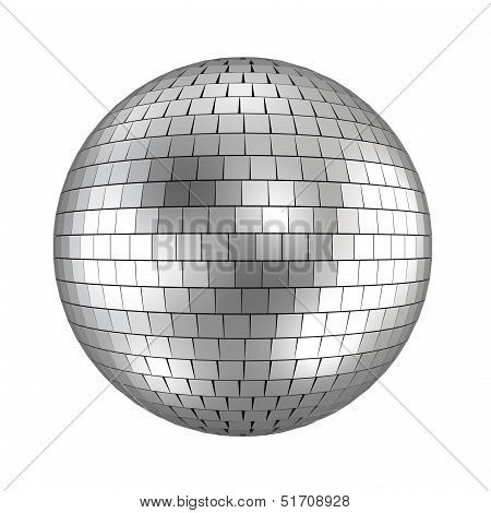Disco Ball - 3D Render On White