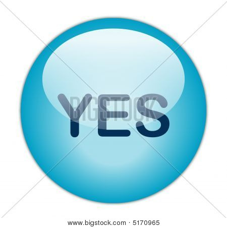 The Glassy Blue Yes Button