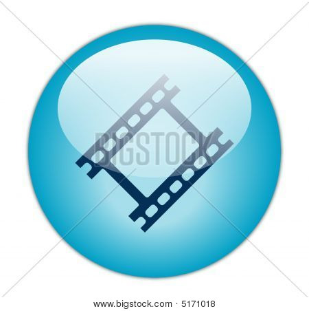 Glassy Blue Film Strip Icon