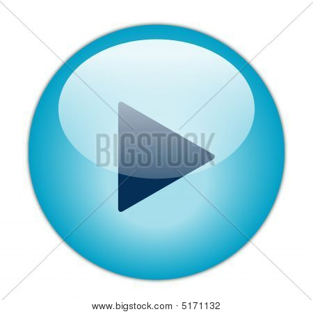 Glassy Blue Play Icon