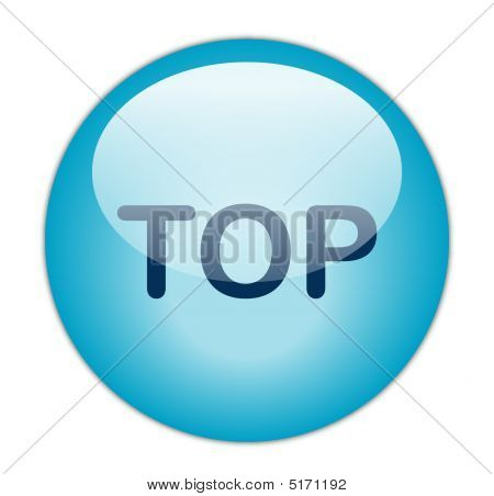 The Glassy Blue Top Button