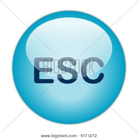 The Glassy Blue Escape Button