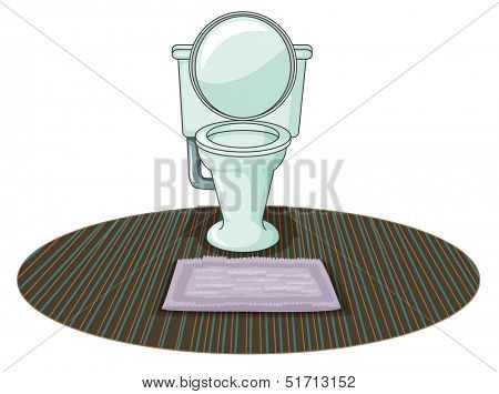 Illustration of a  toilet bowl on a white background