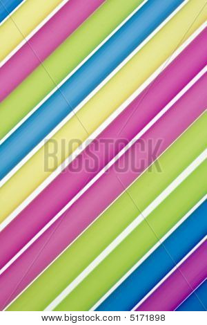Closeup Of Drinking Straws