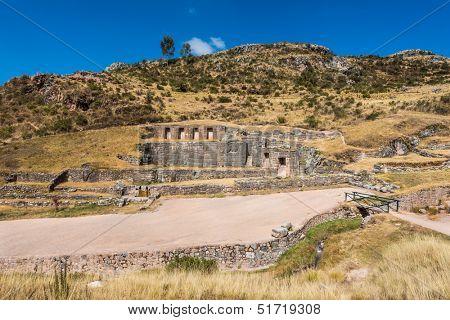 Tambomachay, Incas ruins in the peruvian Andes at Cuzco Peru South America