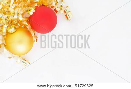 Gold and Red Christmas Bulb