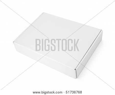 White Blank Carton Pizza Box