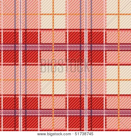 Seamless Checkered Red And White Pattern