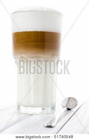 Latte Macchiato In A Glass