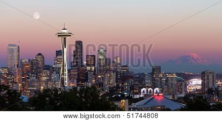 Seattle City Skyline From Kerry Park