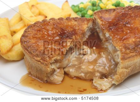 Chicken Pie & Chips