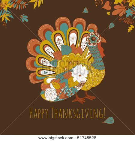 Happy Thanksgiving-schönen Türkei-card