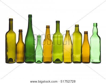 Several colored glassworks