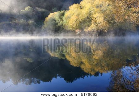 Autumnal Mist Over Water