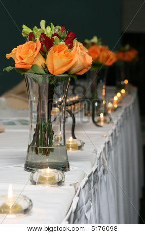 Buquês de damas de honra em vasos