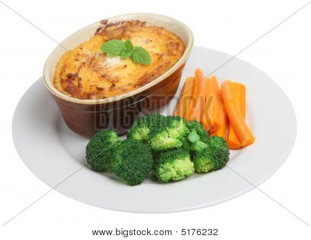 Shepherds Pie & Vegetables