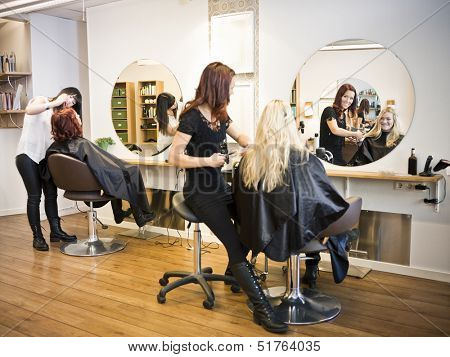 Situation in a Hair salon